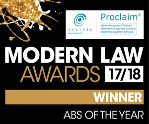 modern law awards 17/18 winner